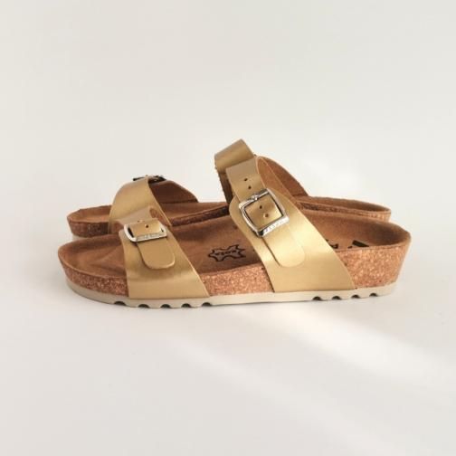 Ženska anatomska papuča | V-001 zlatna 1