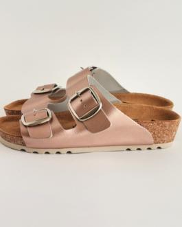 Ženska anatomska papuča  V-013 metal roze