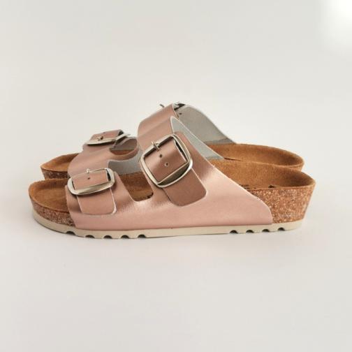 Ženska anatomska papuča V-013 metal roze 1