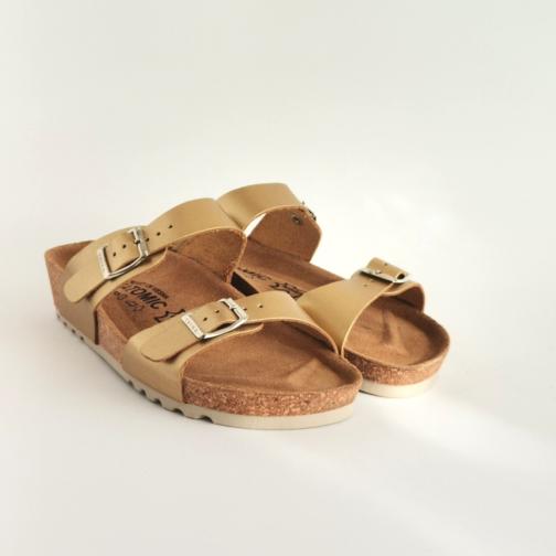 Ženska anatomska papuča | V-001 zlatna 2