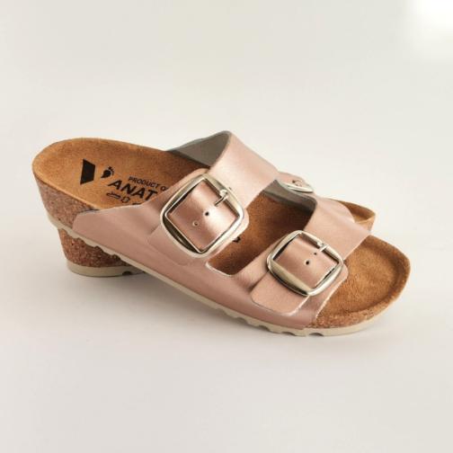 Ženska anatomska papuča V-013 metal roze 2