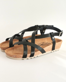 Ženske anatomske sandale V-012 crna