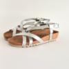 Ženske anatomske sandale V-012 srebrna