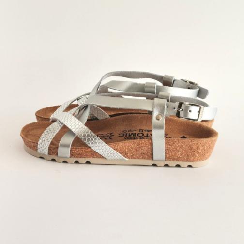 Ženske anatomske sandale V-012 srebrna 1