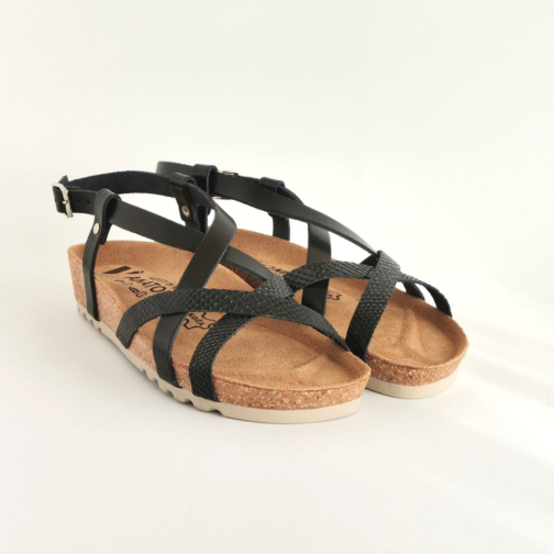 Ženske anatomske sandale V-012 crna 2