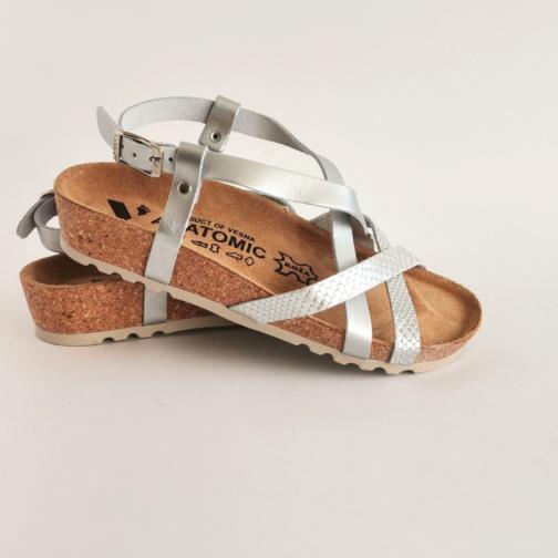Ženske anatomske sandale V-012 srebrna 2