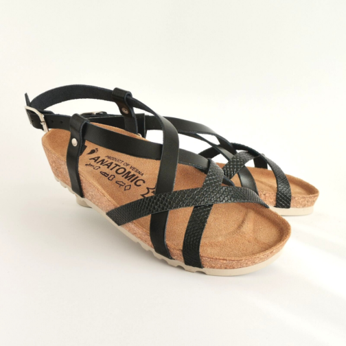 Ženske anatomske sandale V-012 crna 3