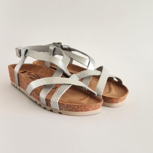 Ženske anatomske sandale V-012 srebrna 3